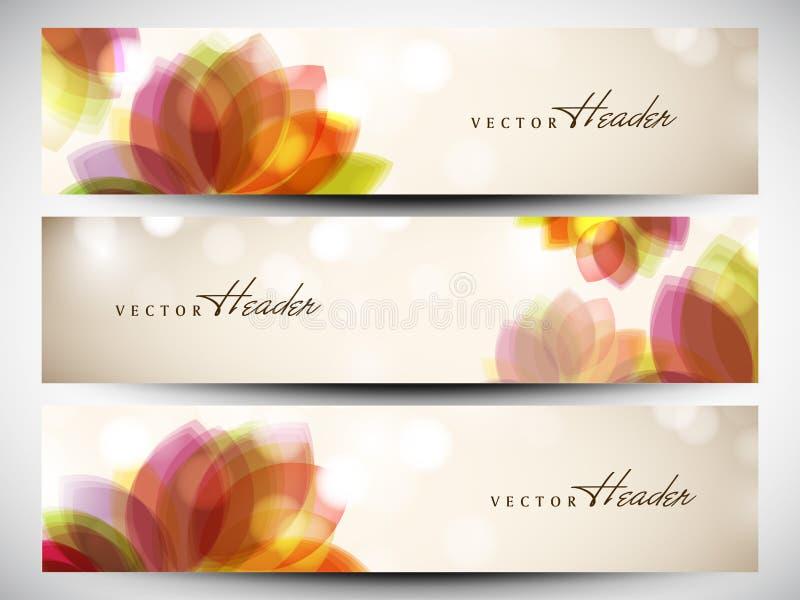 Website header or banner set vector illustration