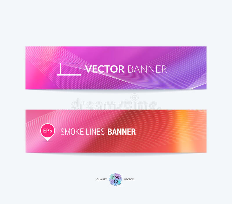 Website header or banner set with blurred background. Vector ill royalty free illustration