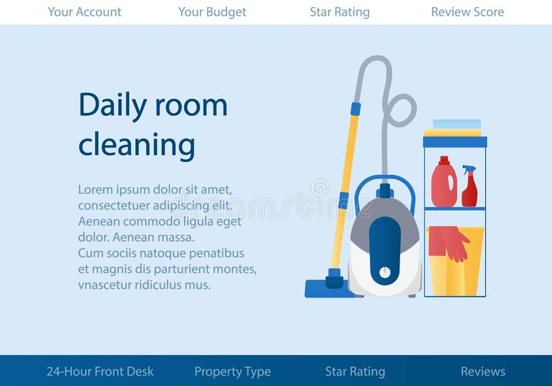vector template with logo for cleaning service of hotel or
