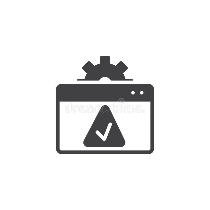 Website het plaatsen keurt vectorpictogram goed royalty-vrije illustratie