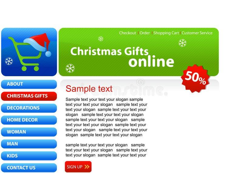 Website - het winkelen van Kerstmis stock illustratie