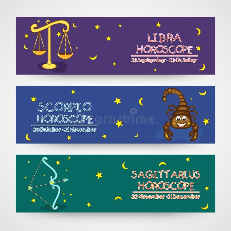 Website horoscope header or banner concept. vector illustration