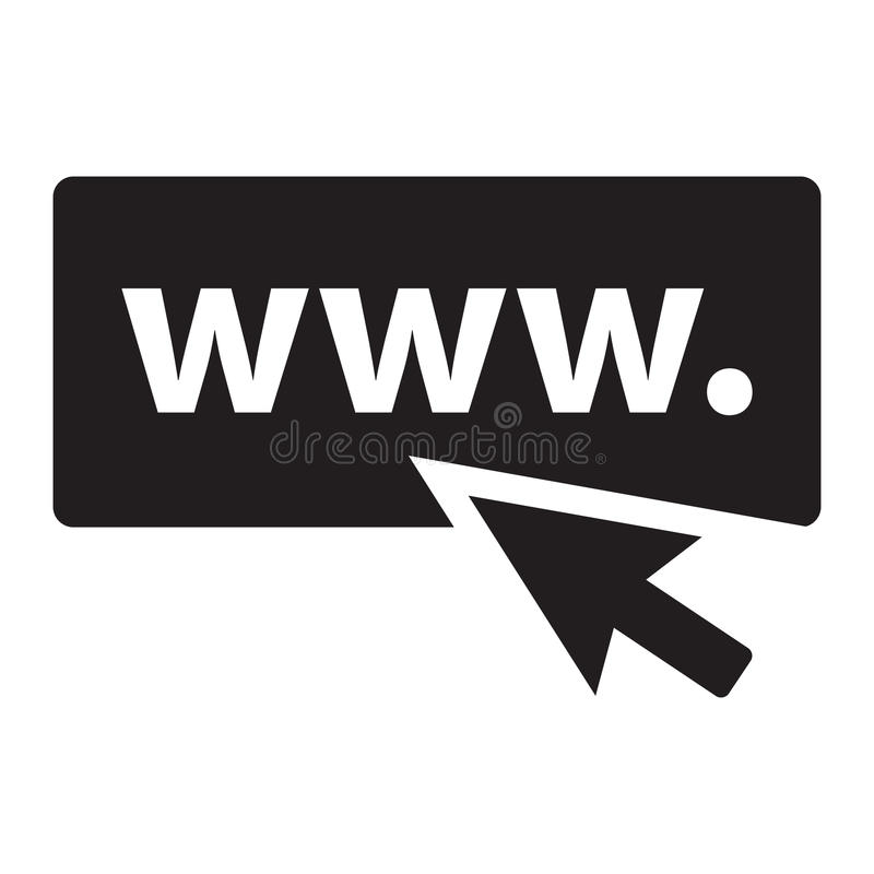 Website icon image. Black website and icon image stock illustration