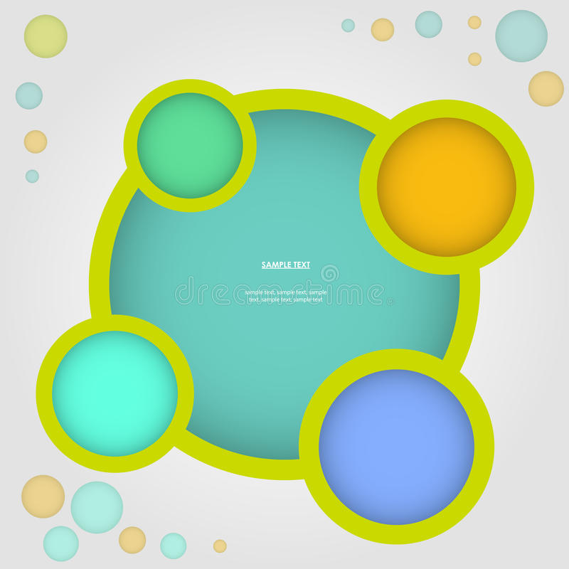 Website infographic, Vektordesignrahmen vektor abbildung