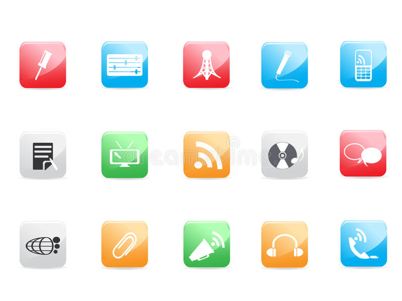 Website and Internet icons. For design royalty free illustration