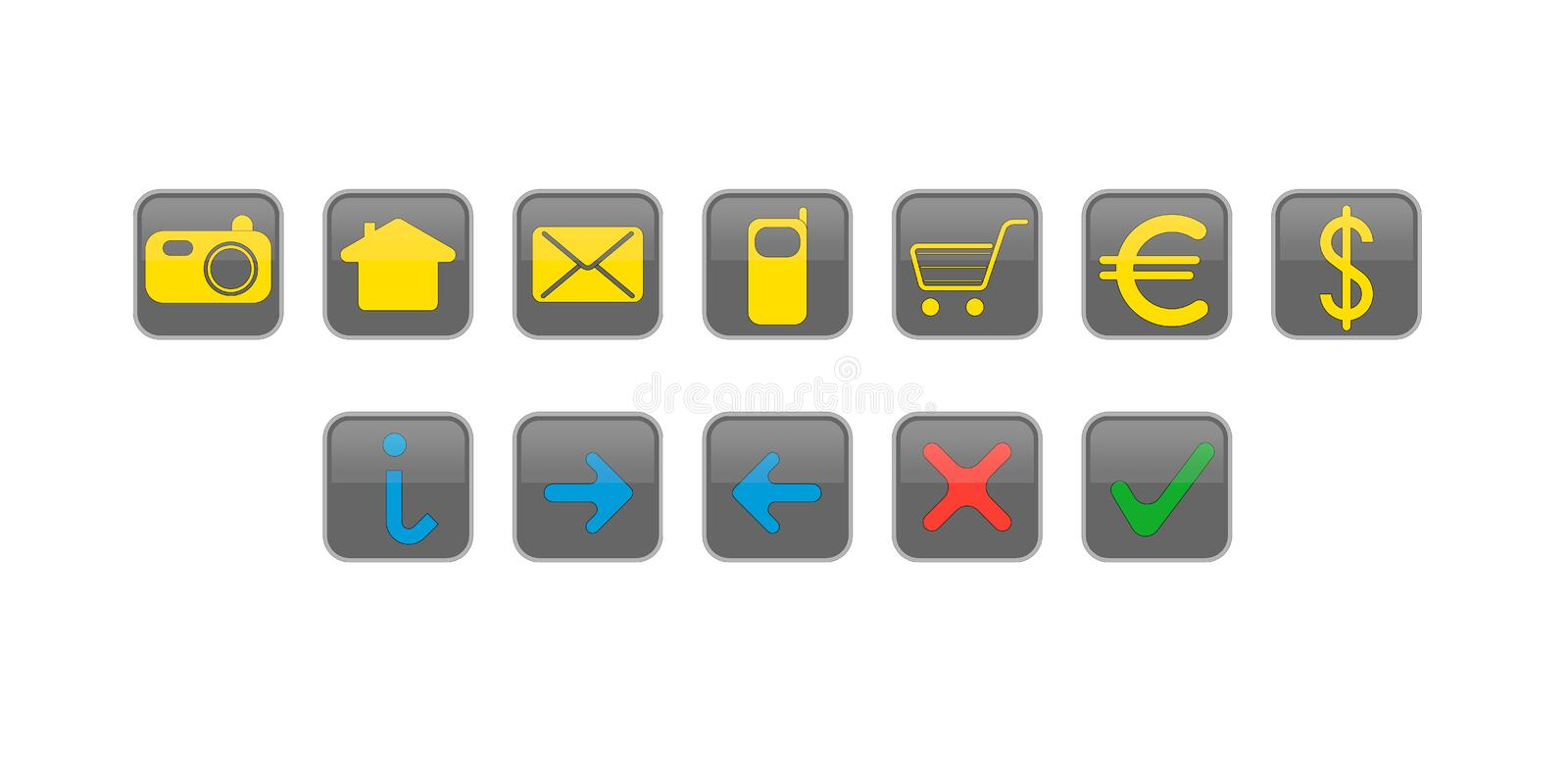 Website And Internet Icons Buttons Free Stock Photo