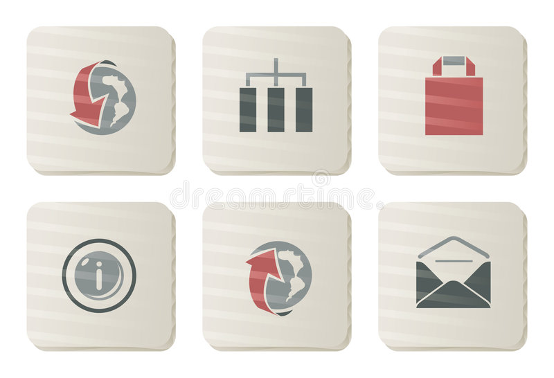 Website and Internet icons | Cardboard series vector illustration