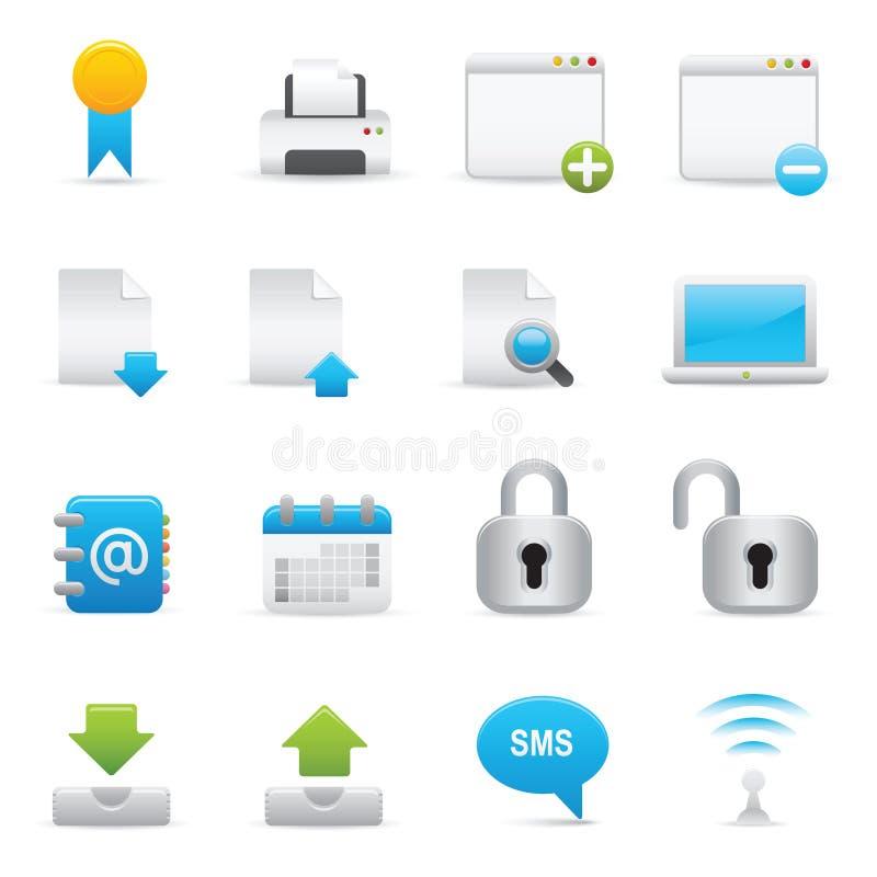 Website & Internet Icons Set   Indigo Serie 02 vector illustration