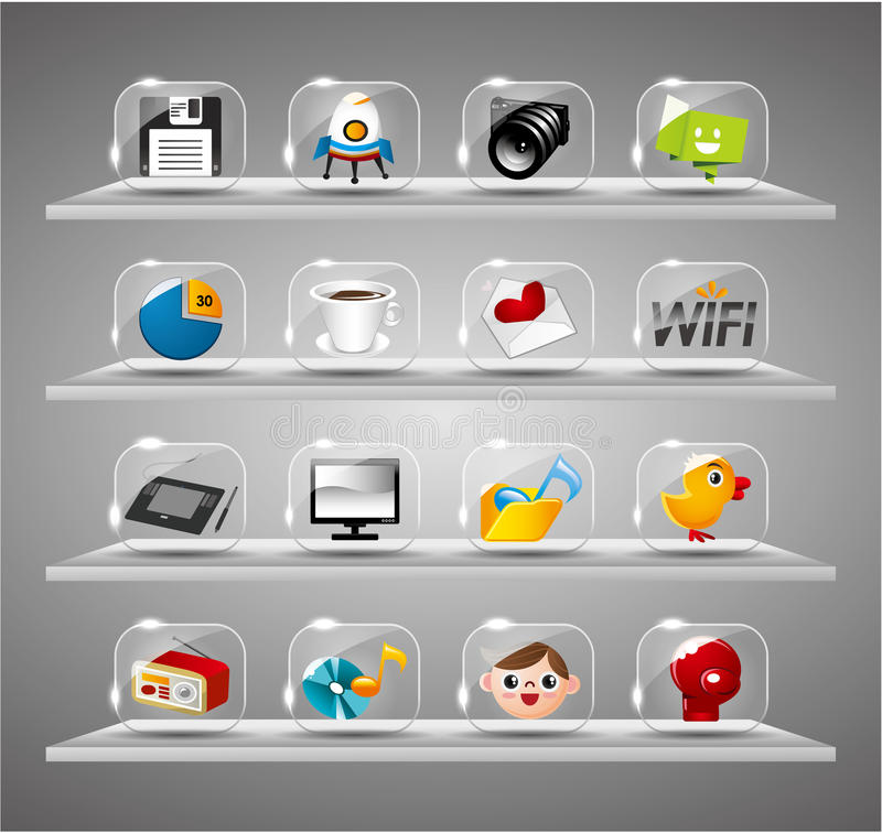 Download Website Internet Icons ,Transparent Glass Button Stock Vector - Image: 20610469