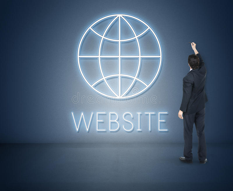 Website Internet Technology Globe Concept stock image