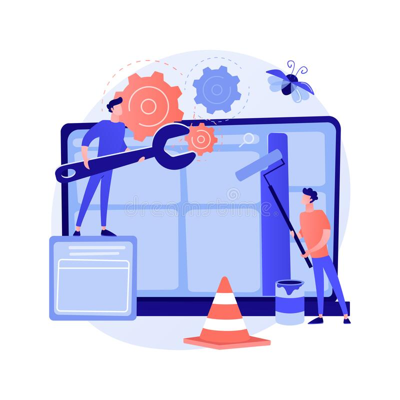 Free Website Maintenance Abstract Concept Vector Illustration. Royalty Free Stock Image - 196905036