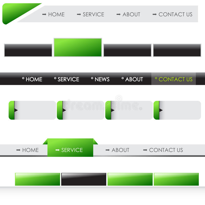 Download Website Menu Bars Stock Photos - Image: 28600243