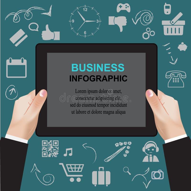 Website mobil, analytics, begrepp, gemkonst, illustration royaltyfri illustrationer