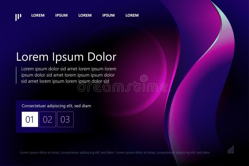 Website or mobile app landing page template design. Minimal geometric background. Dynamic shapes composition. Eps10 vector. royalty free illustration