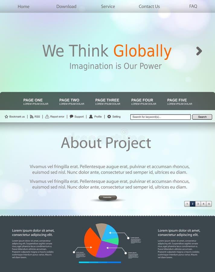 Website modern template background. Easy editable stock illustration