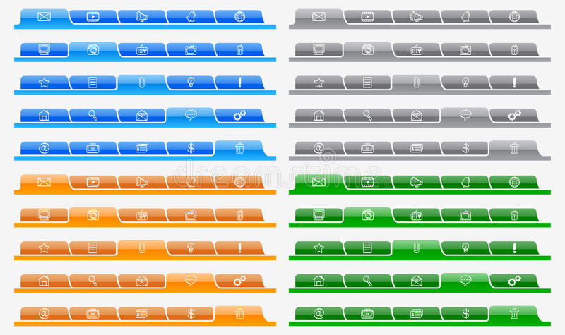 Download Website navigation stock vector. Image of global, browser - 25786758