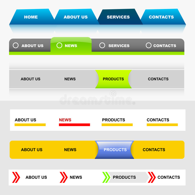 Download Website Navigation Templates 5 Royalty Free Stock Photography - Image: 9308877