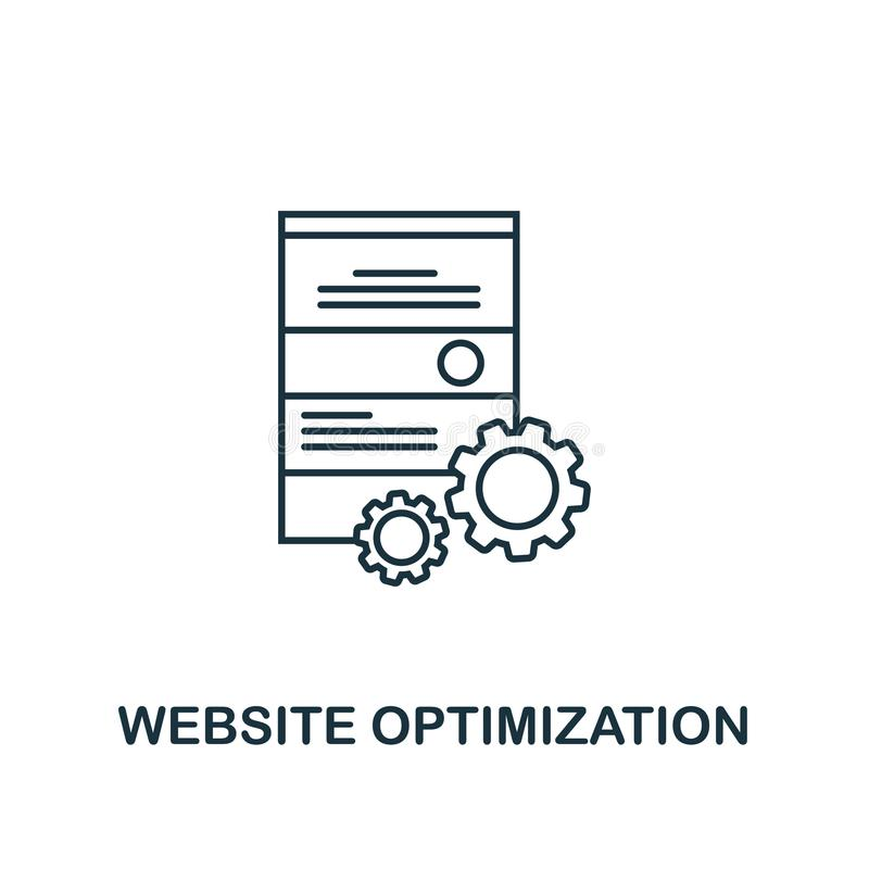 Website Optimization creative icon. Simple element illustration. Website Optimization concept symbol design from seo collection. P. Website Optimization creative stock illustration