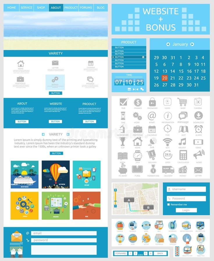 Website page template. Web design vector illustration
