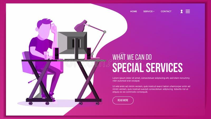 Website Page Vector. Business Website. Site Scheme Template. Cartoon People. Creativity Goal. Illustration vector illustration