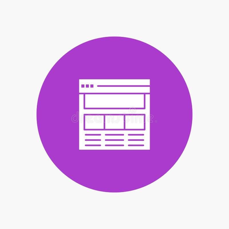 Website, Pagina, Interface, Web, online vector illustratie