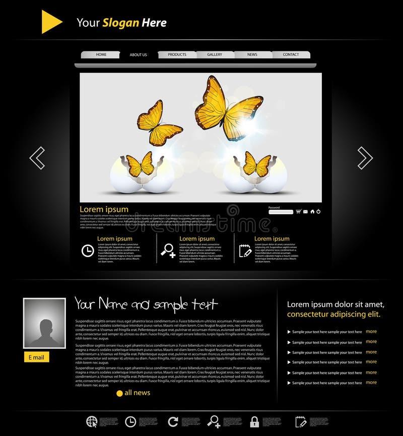Download Website personal portfolio stock vector. Illustration of design - 21976376