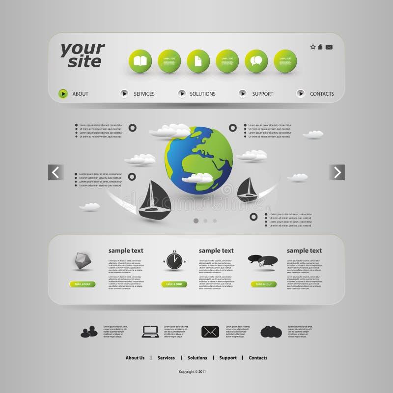 Website-Schablone stock abbildung