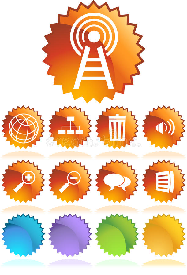 Download Website Seal Button Set stock vector. Image of graphic - 9498965