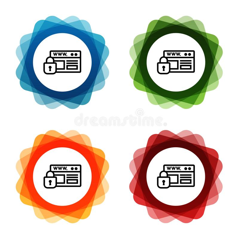 Website Security https Padlock Icons. Eps10 Vector stock illustration