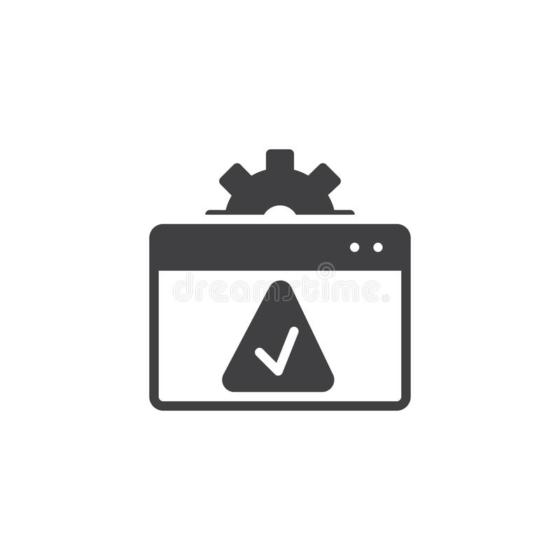 Website setting accept vector icon royalty free illustration