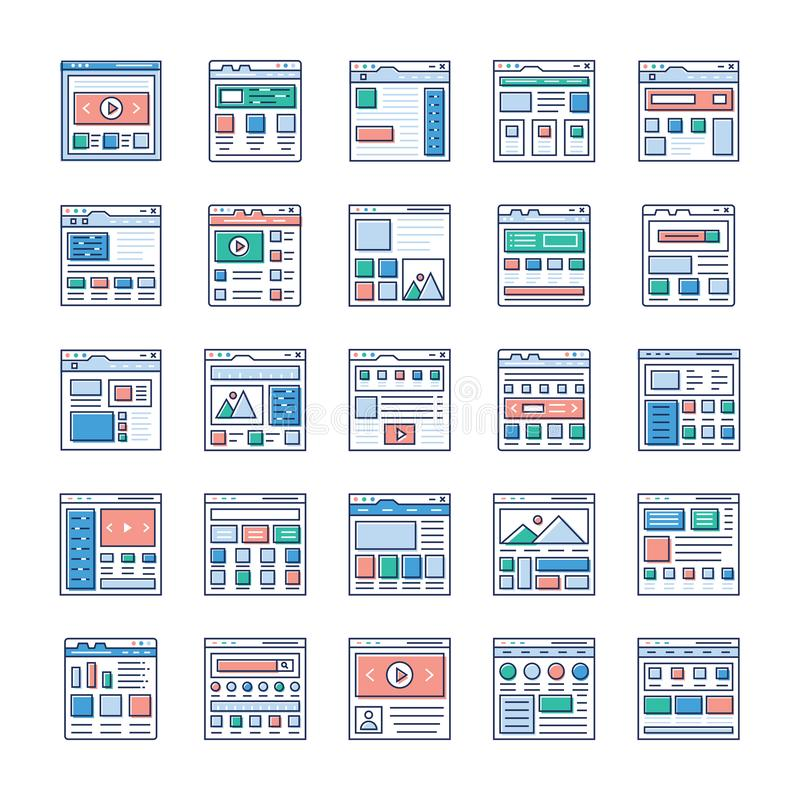 Website Sitemaps Flat Icons Pack. Is here. If you`re interested in web designing, web hosting, videography, web communication and so on hence, grab this stock illustration