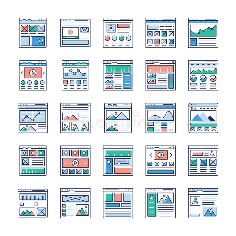 Website Sitemaps Flat Vectors Pack. Is here. If you`re interested in web designing, web hosting, videography, web communication and so on hence, grab this royalty free illustration