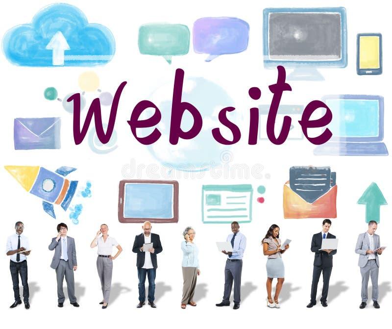 Website-Social Media-Verbindungs-Netz-Konzept stockbild