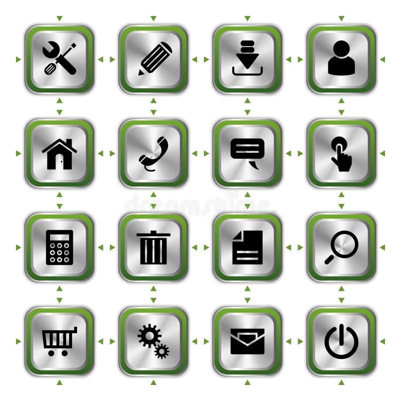 Website stylish icons set vector illustration