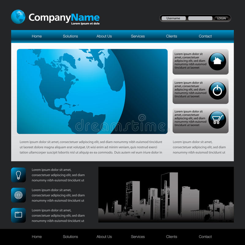Download Website Template Royalty Free Stock Images - Image: 10244069