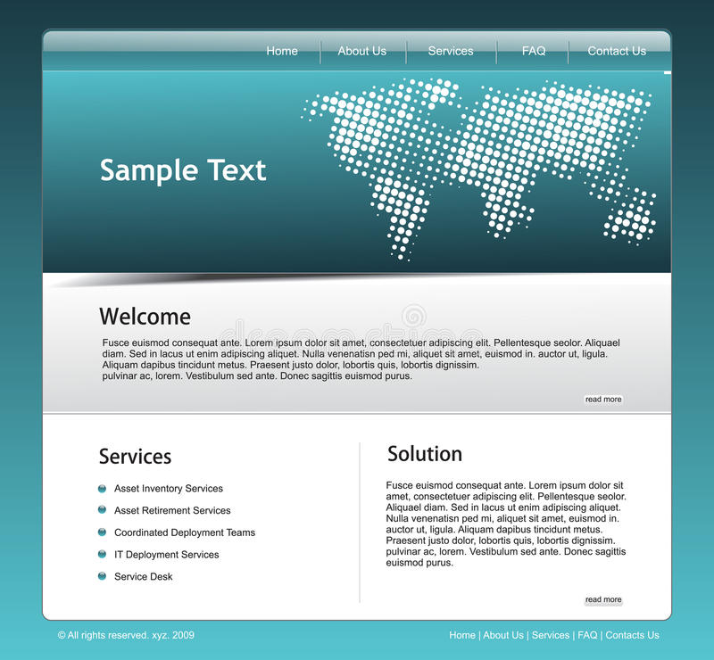 Download Website template stock vector. Image of communication - 10377797