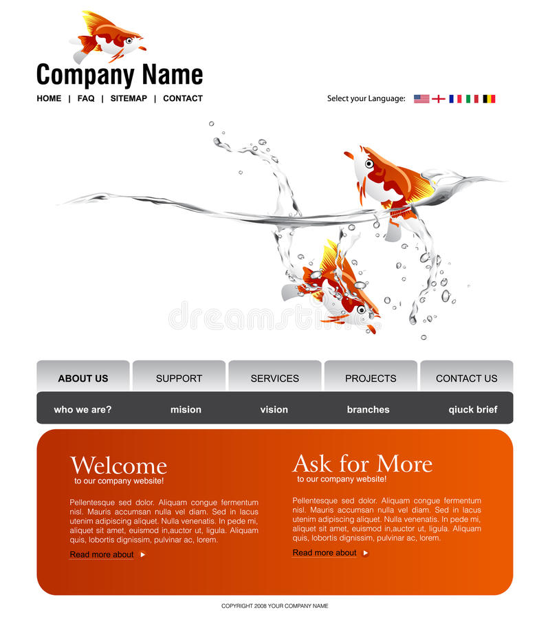 Download Website template stock vector. Image of internet, design - 11894968