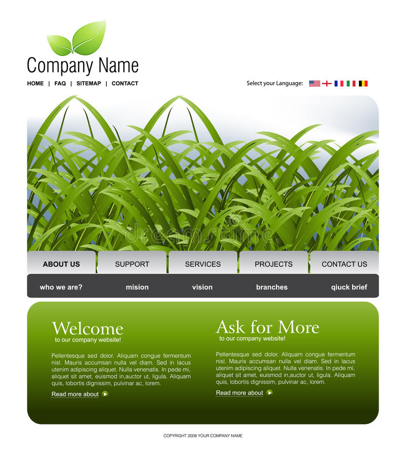 Download Website Template Stock Photography - Image: 11894992