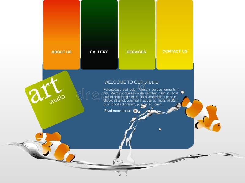Download Website template stock vector. Illustration of clown - 12936571