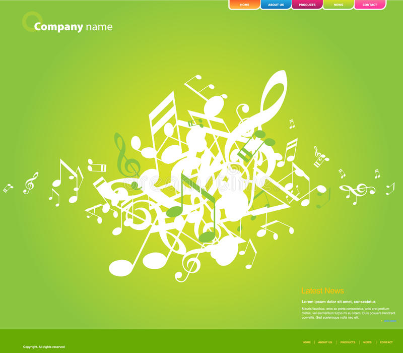 Website template. vector illustration
