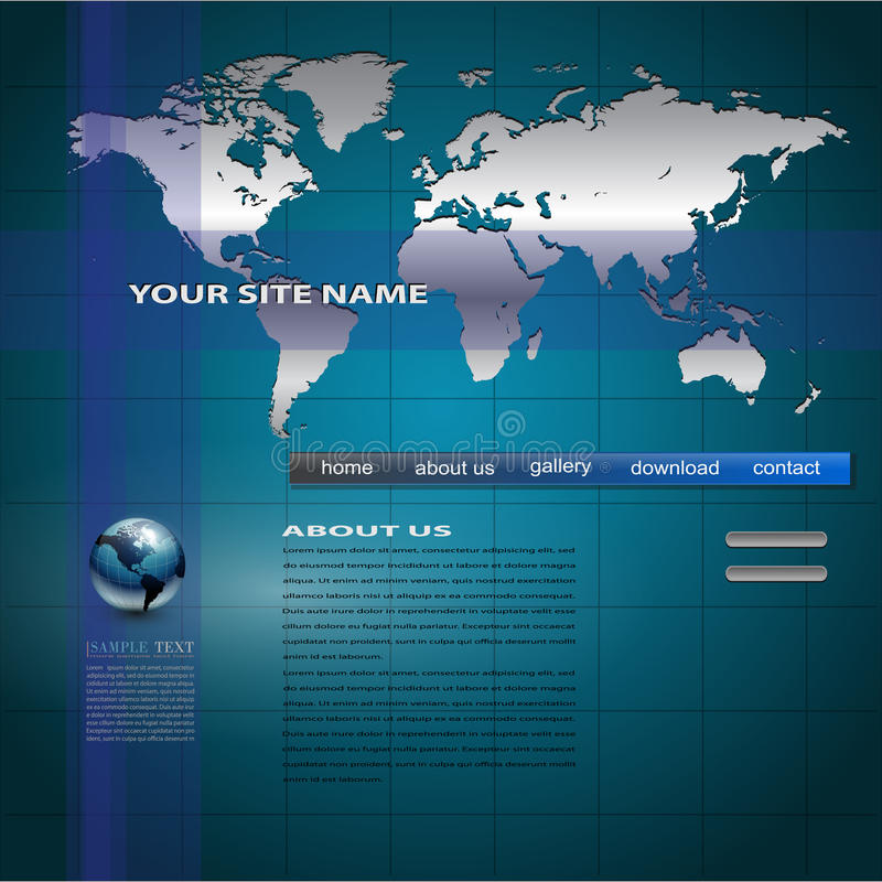 Download Website Template Royalty Free Stock Photo - Image: 15340215