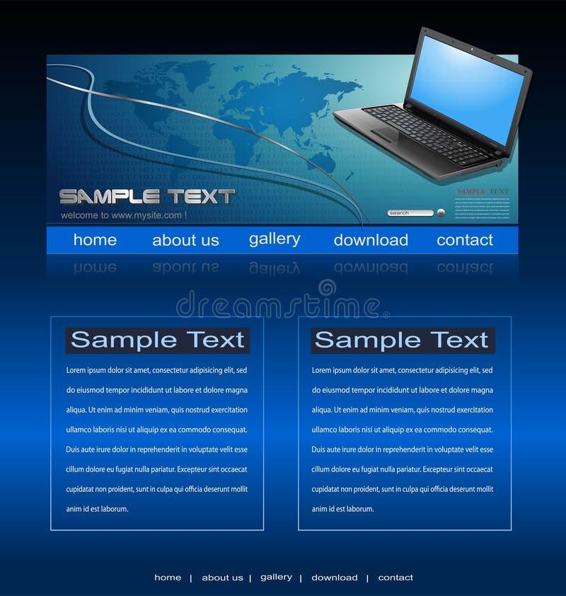 Download Website template stock vector. Image of clean, notebook - 15340237
