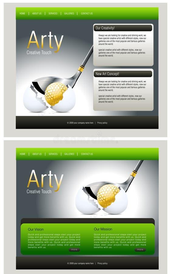Website Template Stock Photo