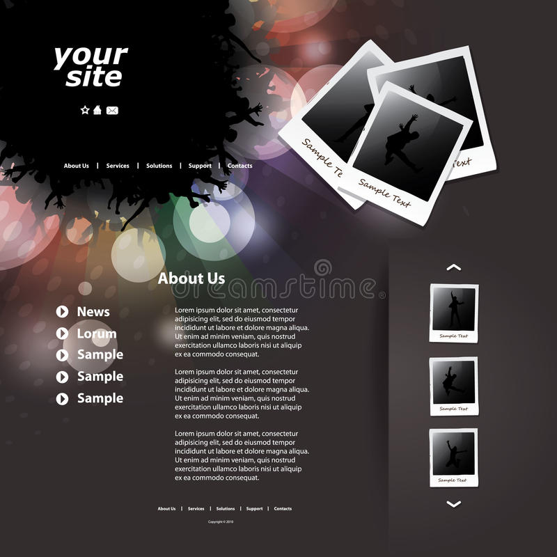 Download Website Template stock vector. Image of abstract, design - 23359278