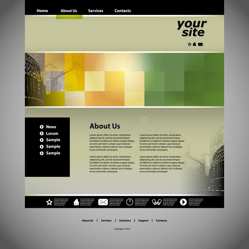 Download Website Template Royalty Free Stock Photography - Image: 26718767