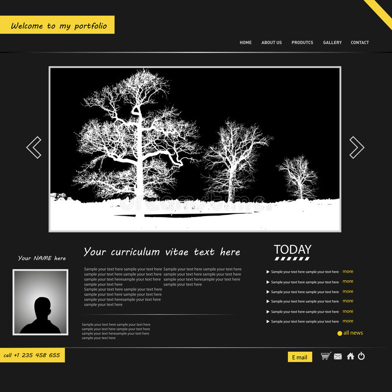 Download Website template stock vector. Image of page, dark, company - 27557849