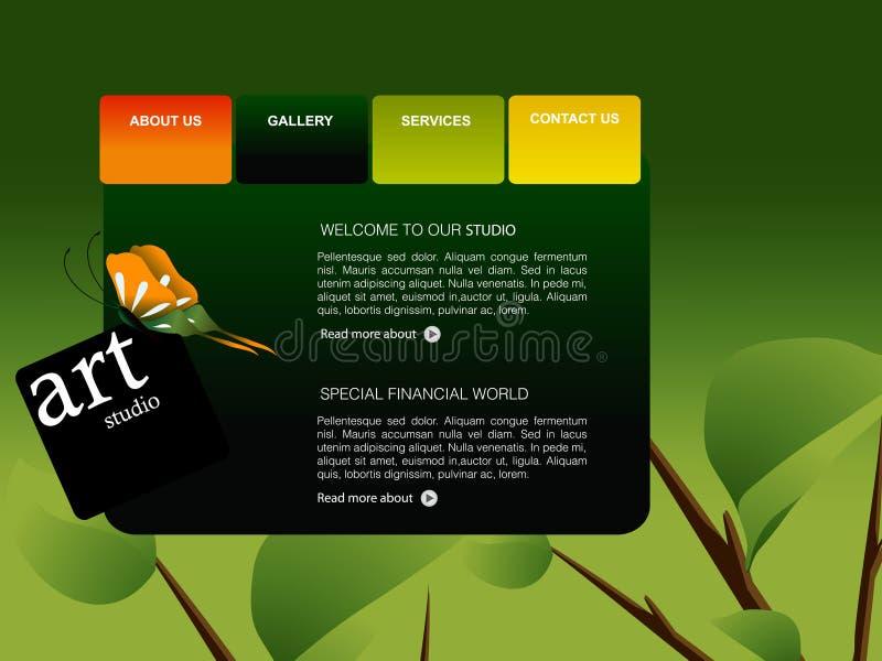Website Template royalty free illustration