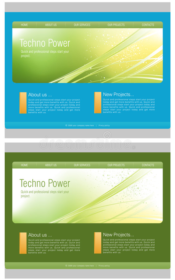 Download Website Template stock vector. Image of digital, editable - 8924393