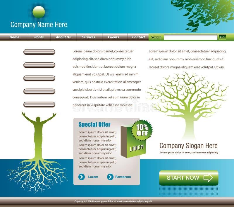 Download Website Template stock vector. Illustration of design - 8993613
