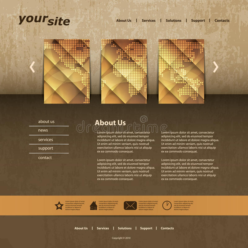 Download Website Template stock vector. Image of diamond, advertising - 31006642